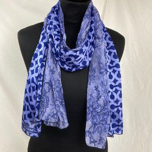 Coach oblong 2-layer signature/lace print scarf